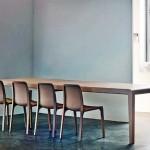 Imagen ligera de la silla exaltando la fuerza conceptual de la carcasa