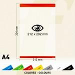 Sencillo sistema para la sujeción de todo tipo de documentos gráficos: carteles, pósters, informes, ofertas...